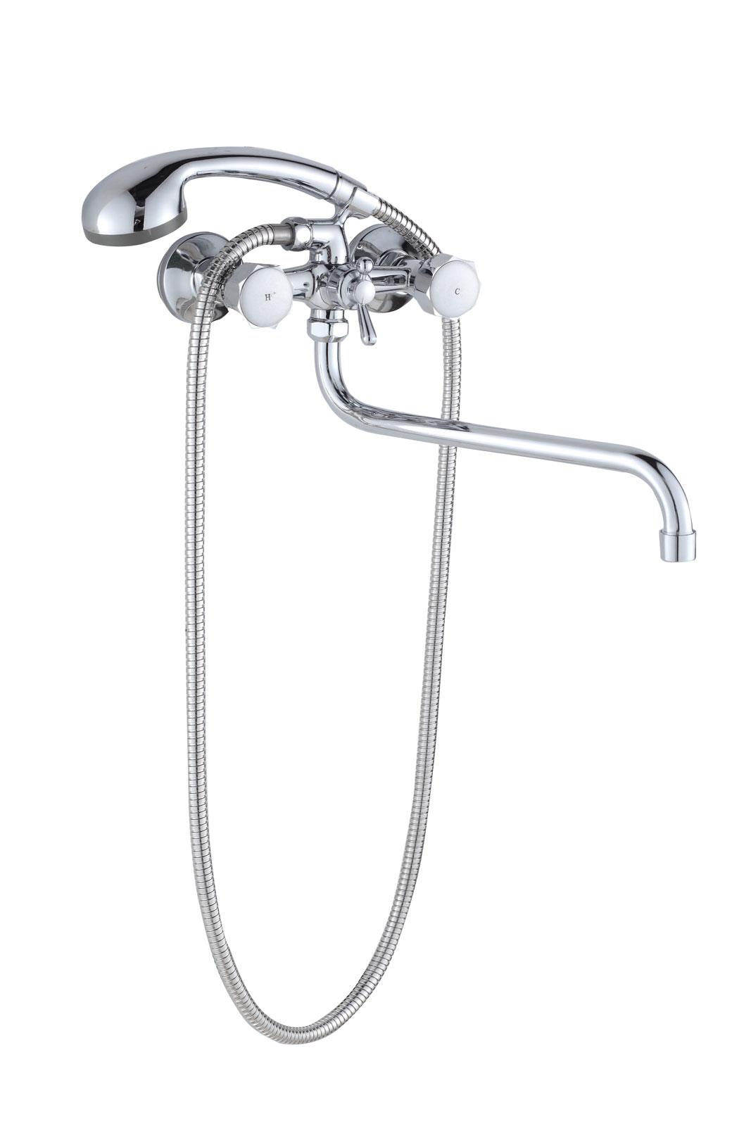 Двухручковый смеситель для ванной D6501-X99