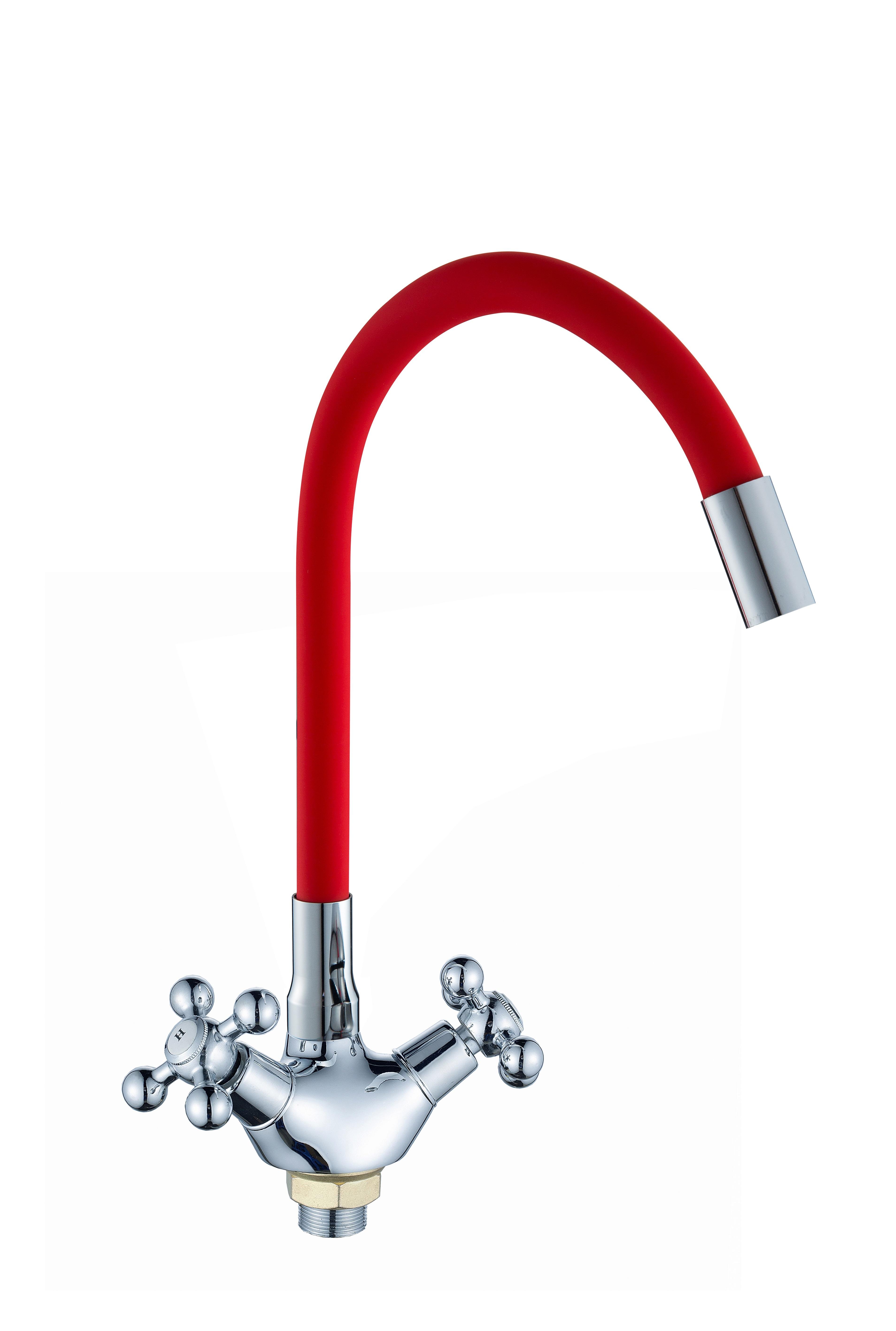 D3009 красный Смеситель для кухни