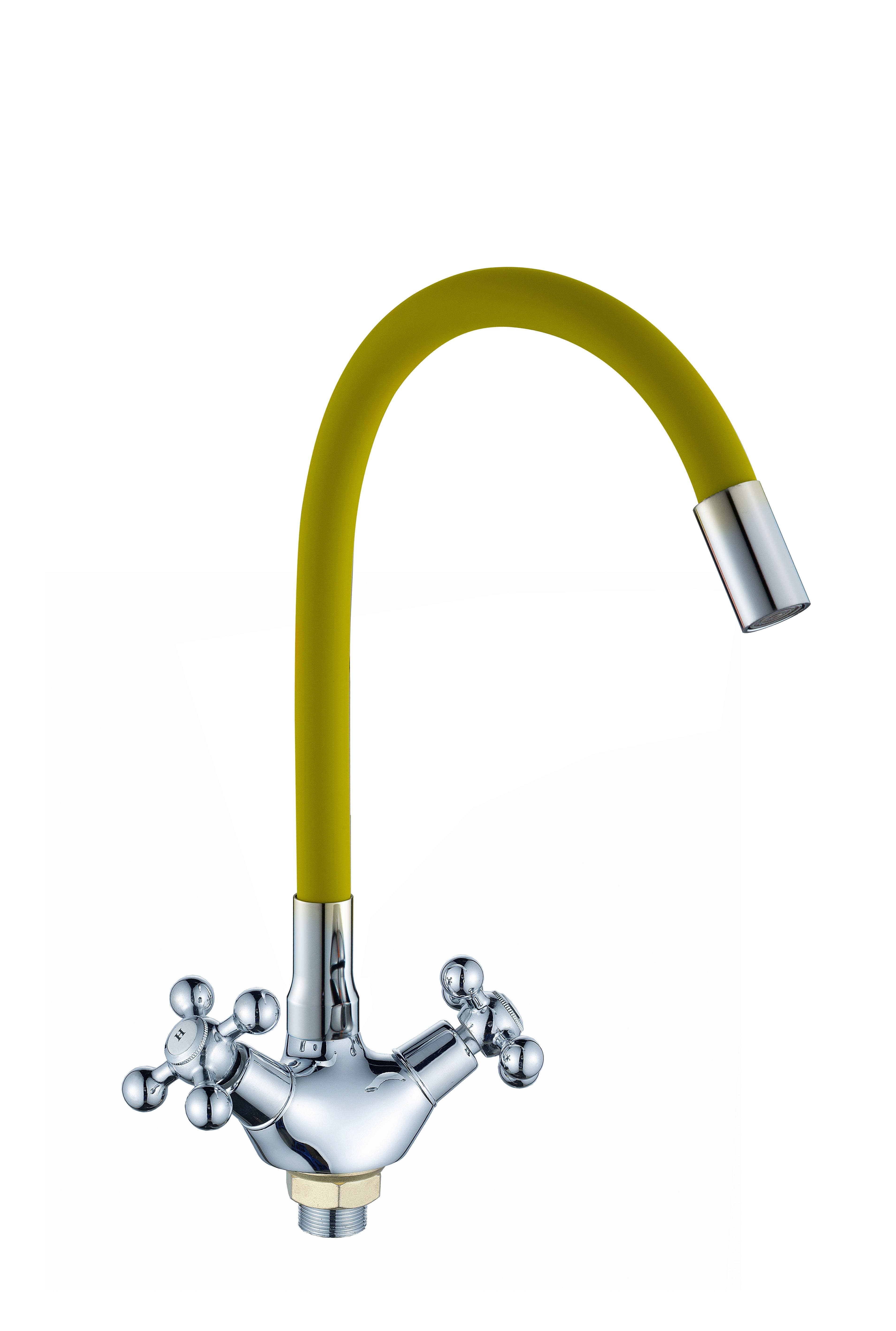 D3009 желтый Смеситель для кухни