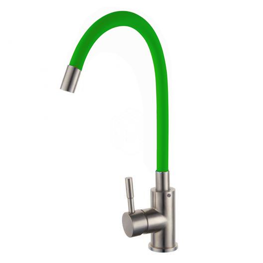 B4065 (зеленый) Смеситель для кухни