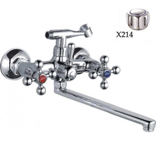 Двухручковый смеситель для ванной D4520-X214