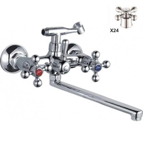 Двухручковый смеситель для ванной D4520-X24