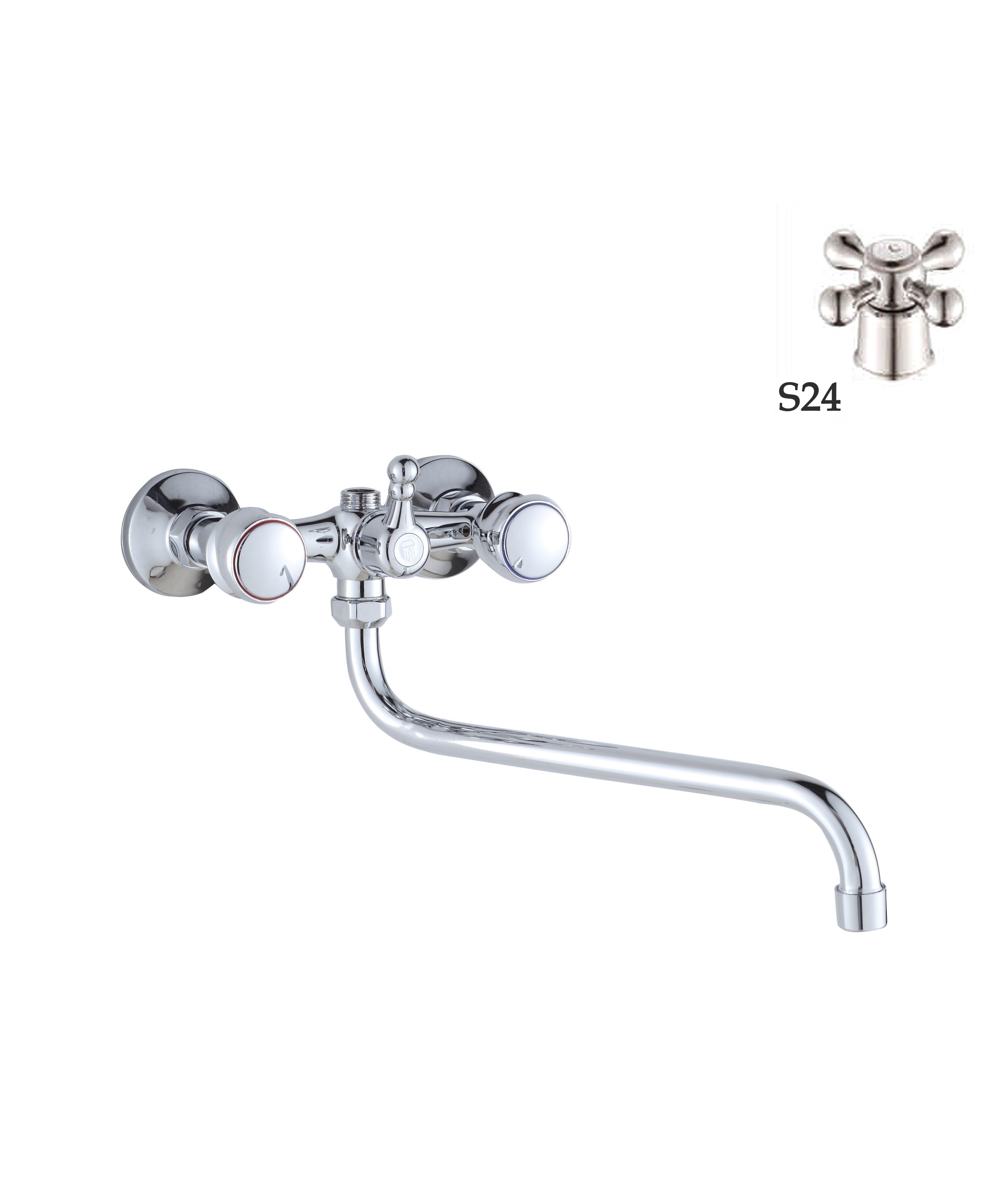 Двухручковый смеситель для ванны D6550-S24