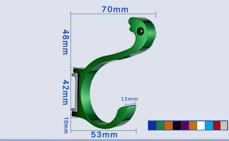 Крючок настенный фиолетовый YG-08