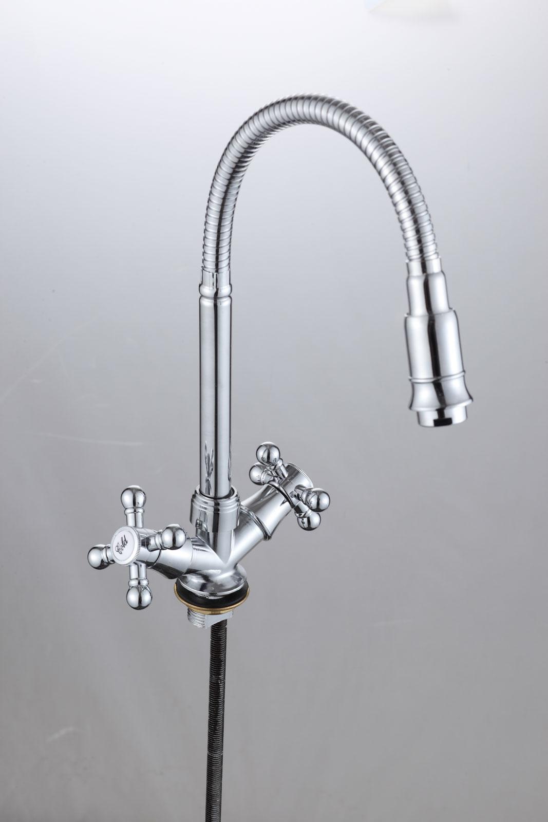 Двухручковый смеситель для кухни D3033-S24