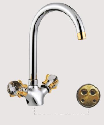 Двухручковый смеситель для кухни D4188