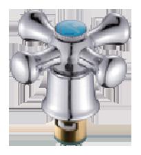 Маховик металлический с юбкой и кран-буксой на 20 шлицов A305