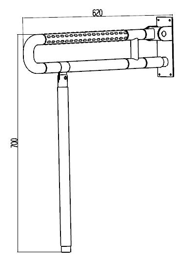 Поручень U-образный 1W012