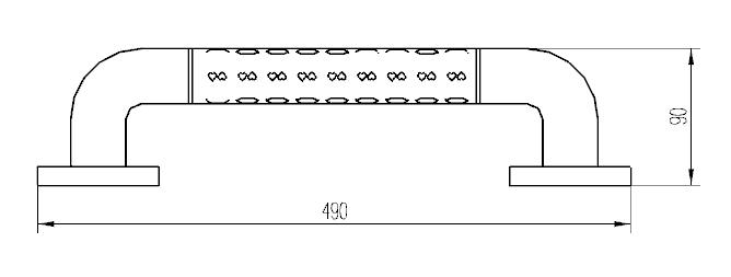 Поручень прямой 2W001-49