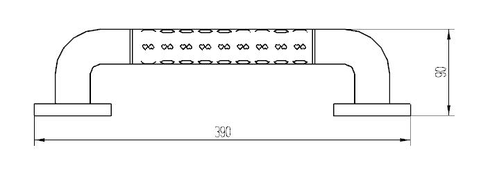 Поручень прямой желтый 2W005-39Y