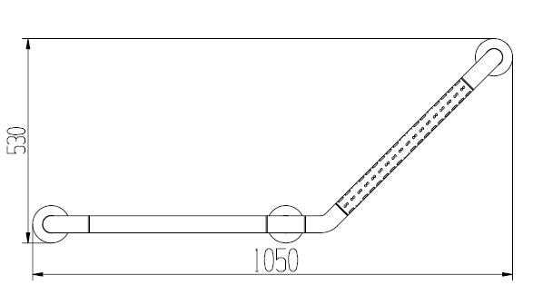 Поручень настенный угловой 2W007