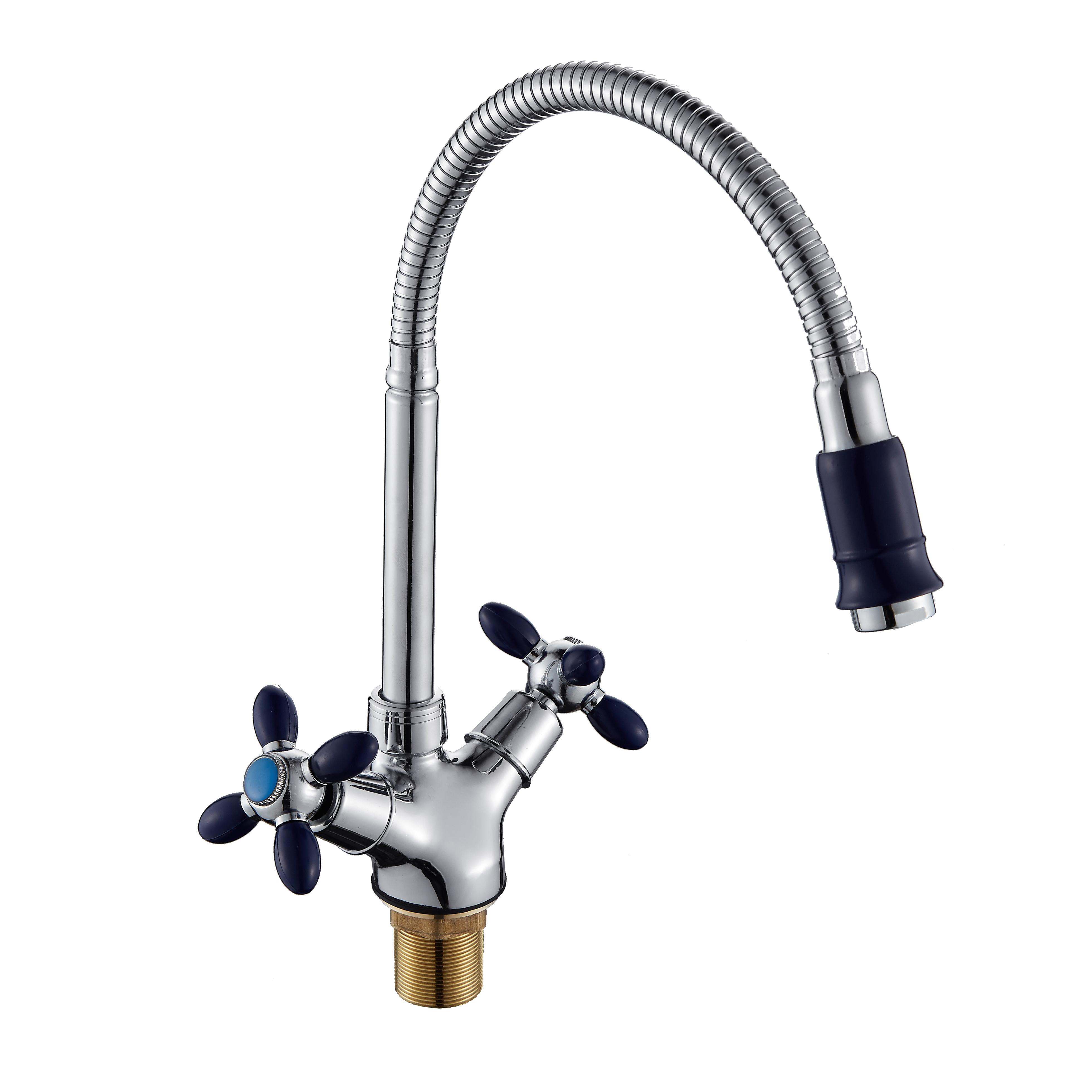 D5871-6A Смеситель для кухни с высоким гибким изливом