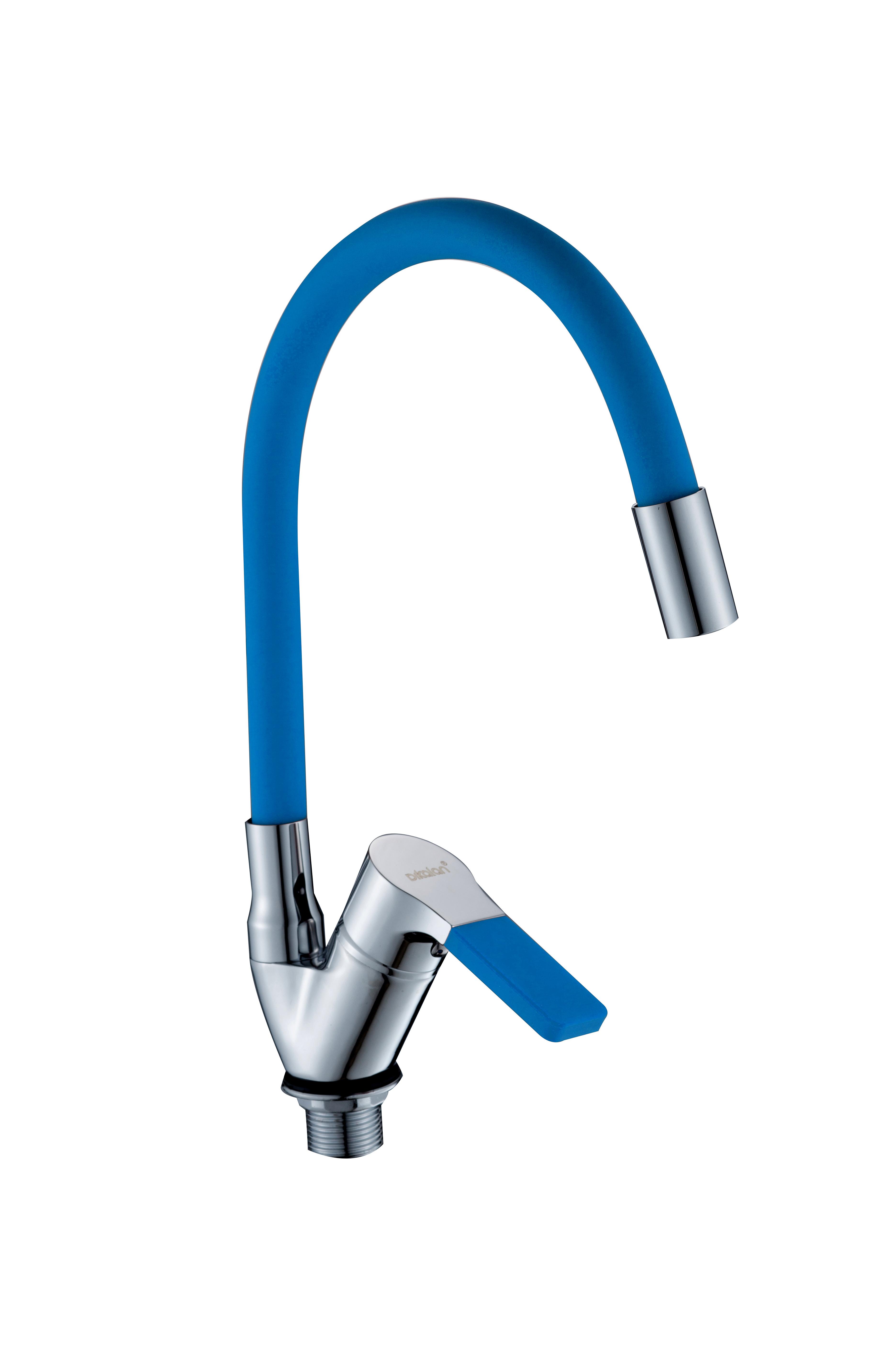 D57H76-6 синий  Смеситель для кухни